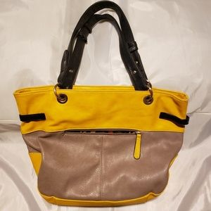 Bags - Yellow and Tan Purse